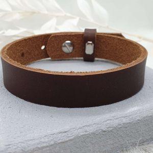 Männerarmband Leder dunkelbraun