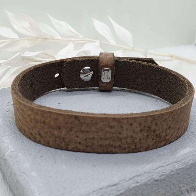Männerarmband Leder hellbraun
