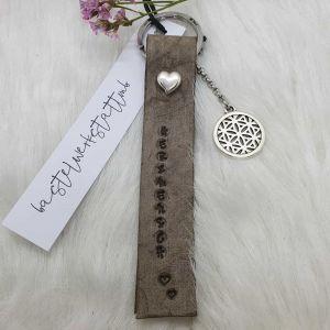 Schlüsselanhänger Leder [personalisiert]