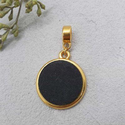 Anhänger Leder 20mm gold