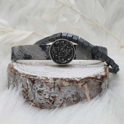 Armband Hematiteperlen