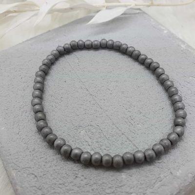 Armband Hematiteperlen grau