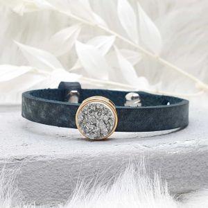 Armband Leder [Schieber rosé]
