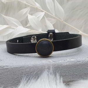 Armband Leder [Schieber bronze]