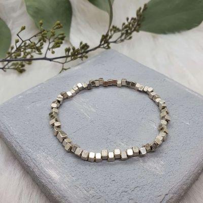 Armband Metallperlen klein