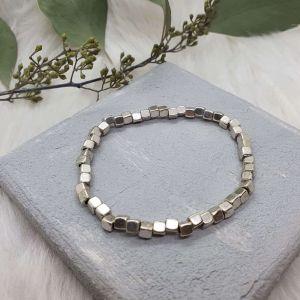 Armband Metallperlen groß