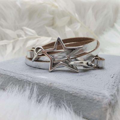 Armband Leder gewickelt [Stern]
