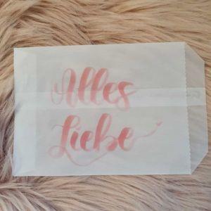 Geschenktüte transparent