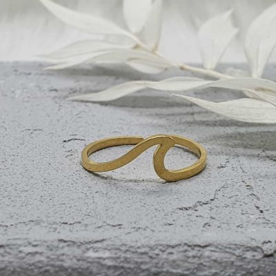 Ring Welle gold [Edelstahl]