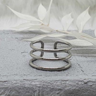 Ring 3-reihig silber [Edelstahl]