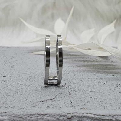 Ring 2-reihig silber [Edelstahl]