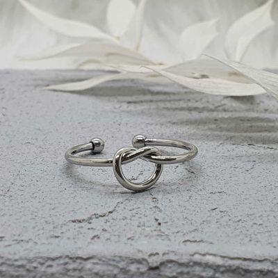 Ring Knoten silber [Edelstahl]