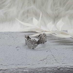 Ring Blätter silber [Edelstahl]