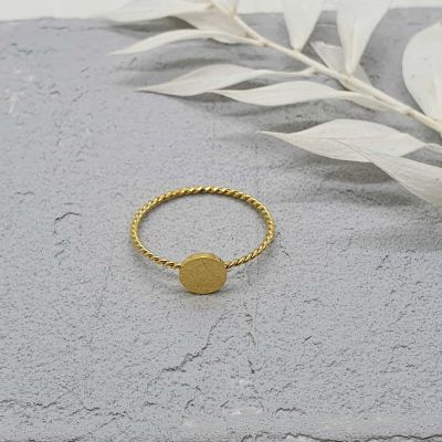 Ring Twist gold [Edelstahl]